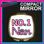 NUMBER ONE 1 NAN COMPACT LADIES METAL HANDBAG GIFT MIRROR